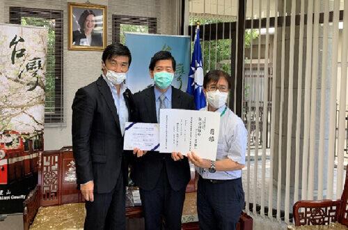 台湾領事館での実証実験風景
